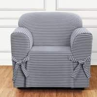 Sure Fit Horizontal Club Stripe 1 Piece Chair Slipcover