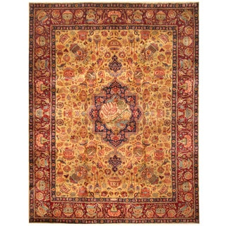 Herat Oriental Persian Hand-knotted Kashmar Wool Rug (10' x 12'7)