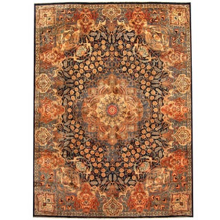 Herat Oriental Persian Hand-knotted Kashmar Wool Rug (10' x 13'3)