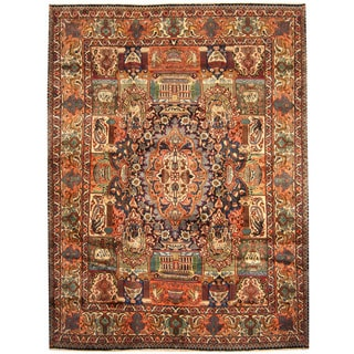 Herat Oriental Persian Hand-knotted Kashmar Wool Rug (9'8 x 12'8)
