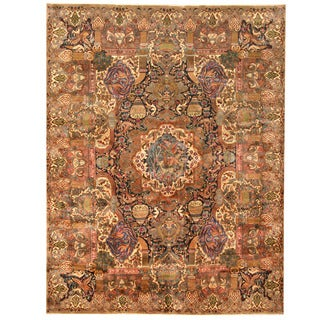 Herat Oriental Persian Hand-knotted Kashmar Wool Rug (9'8 x 12'5)