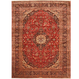 Herat Oriental Persian Hand-knotted Kashan Wool Rug (9'9 x 12'9)