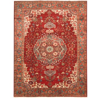 Herat Oriental Persian Hand-knotted Tabriz Wool Rug (9'4 x 12'5)