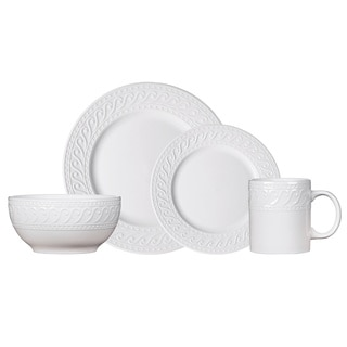 Pfaltzgraff Everyday Kensington White Porcelain 16-piece Dinnerware Set (Service for 4)