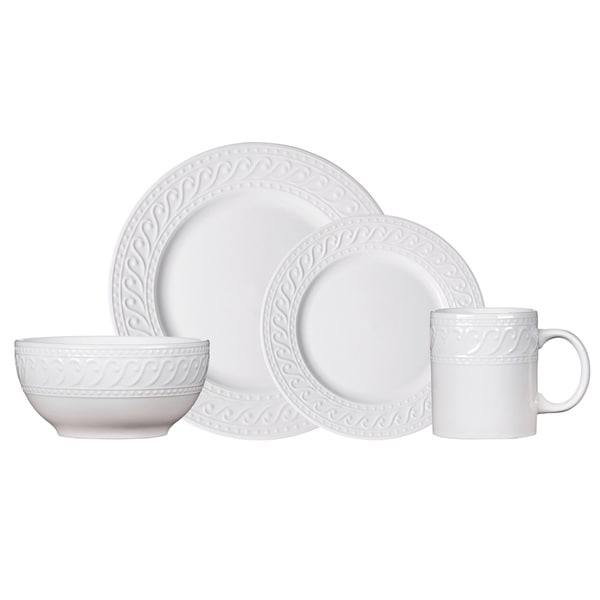 Pfaltzgraff Everyday Kensington White Porcelain 16-piece Dinnerware Set (Service for 4)  sc 1 st  Overstock & Shop Pfaltzgraff Everyday Kensington White Porcelain 16-piece ...