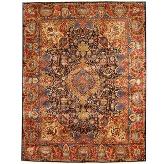 Herat Oriental Persian Hand-knotted Kashmar Wool Rug (9'7 x 12'2)