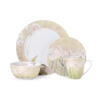 Pfaltzgraff Everyday Narcisus Orchid Stoneware 16-piece Dinnerware Set (Service for 4)