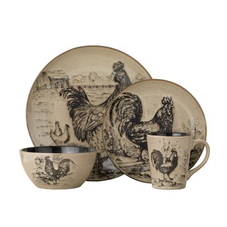 Pfaltzgraff Everyday Homespun Rooster 16-piece Dinnerware Set