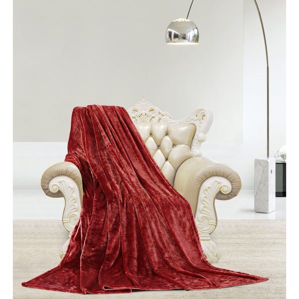 De Moocci Silky Microlight Velvet Plush Luxury Blanket