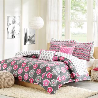 Hampton Hill Ikat Petals Cotton 5-piece Comforter Set