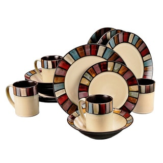 Tabella Mosaic Stoneware 16-Piece Dinnerware Set (Service for 4)