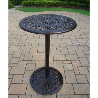 Elegance Cast Metal Round Bar Table