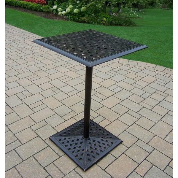 Oakland Living Corporation Camellia Antique Bronze Aluminum Square Bar Table