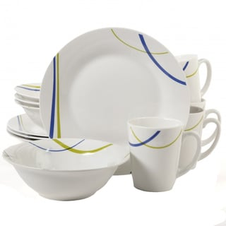 Gibson Divine Streams 12-piece Dinnerware Set