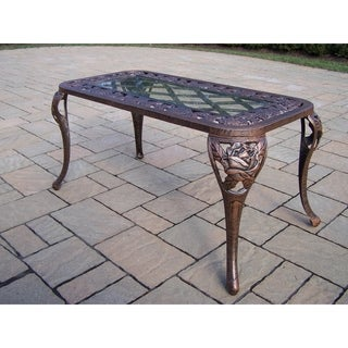 Queen Camellia Bronze Cast Aluminum Cocktail Table