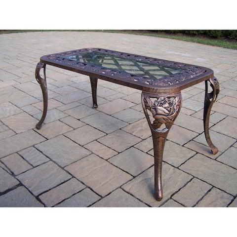 Queen Camellia Bronze Cast Aluminum Cocktail Table