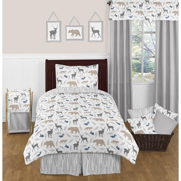 Sweet Jojo Designs Woodland Animals 4-piece Twin-sized Comforter Set