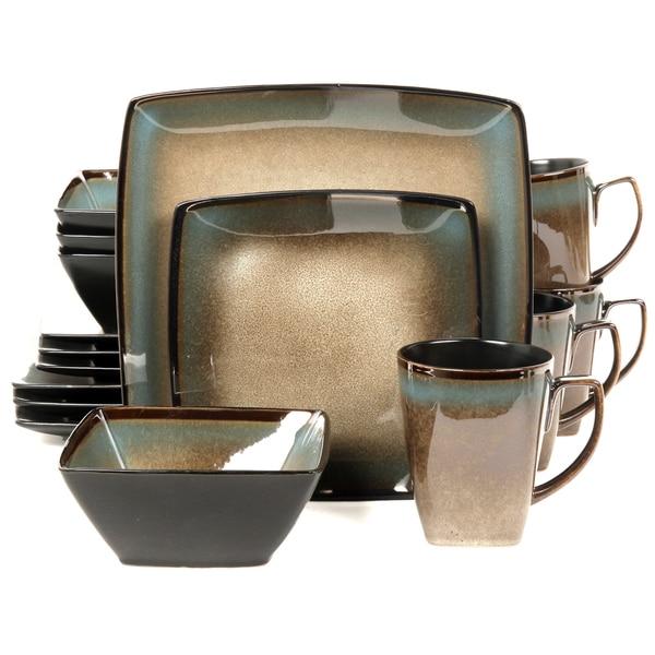 Gibson Tequesta 16-piece Stoneware Dinnerware Set  sc 1 st  Overstock.com & Gibson Tequesta 16-piece Stoneware Dinnerware Set - Free Shipping ...