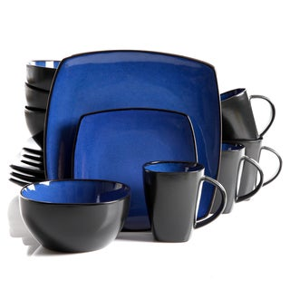 Gibson Home Infinite Glaze Square 16-piece Dinnerware Set (Service for 4)