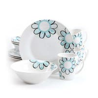 Gibson Home 'Lush Blossom' 12-piece Dinnerware Set (Service for 4)