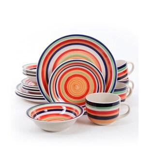 Gibson Santera Multicolor Stoneware 16-piece Dinnerware Set (Service for 4)