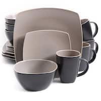 Gibson Soho Lounge Matte Taupe Stoneware 16-piece Dinnerware Set (Service for 4)