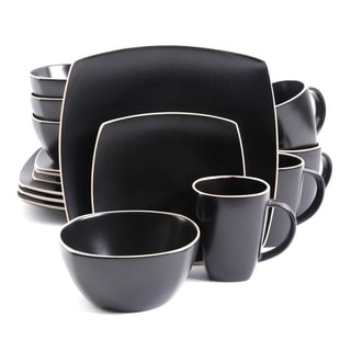 Gibson Soho Lounge Matte Black 16-piece Dinnerware Set (Service for 4)
