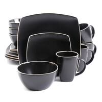 Gibson Soho Lounge Matte Black 16-piece Dinnerware Set (Service for 4)