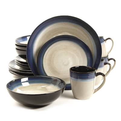 Gibson Couture Bands Stoneware 16-piece Dinnerware Set