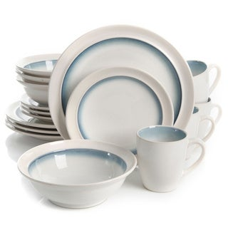 Gibson Elite Lawson Teal Stoneware 16-piece Dinnerware Set