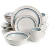 Gibson Elite Lawson Teal Stoneware 16-piece Dinnerware Set