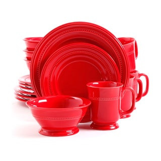 Gibson Barberware Red 16-piece Dinnerware Set