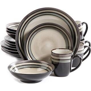 Gibson Lewisville Grey Stoneware 16-piece Dinnerware Set (Service for 4)