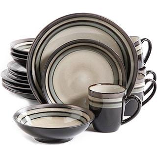 Gibson Lewisville Grey Stoneware 16-piece Dinnerware Set (Service for 4)  sc 1 st  Overstock.com & Stoneware Dinnerware For Less | Overstock.com
