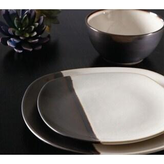 Gibson Volterra Cream Stoneware Striped 16-piece Dinnerware Set (Service for 4)