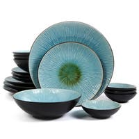 Gibson ShangriLa Court Stoneware Textured 16-piece Dinnerware Set (Service for 4)