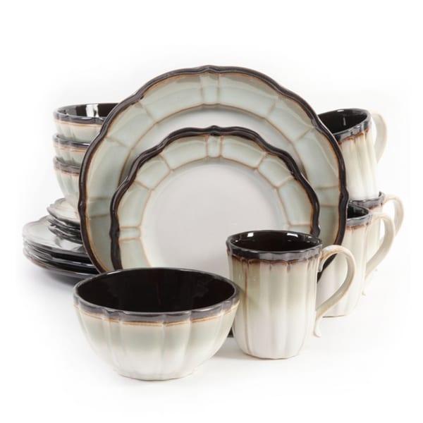 Gibson Mableton Ceramic 16-piece Dinnerware Set (Service for 4)