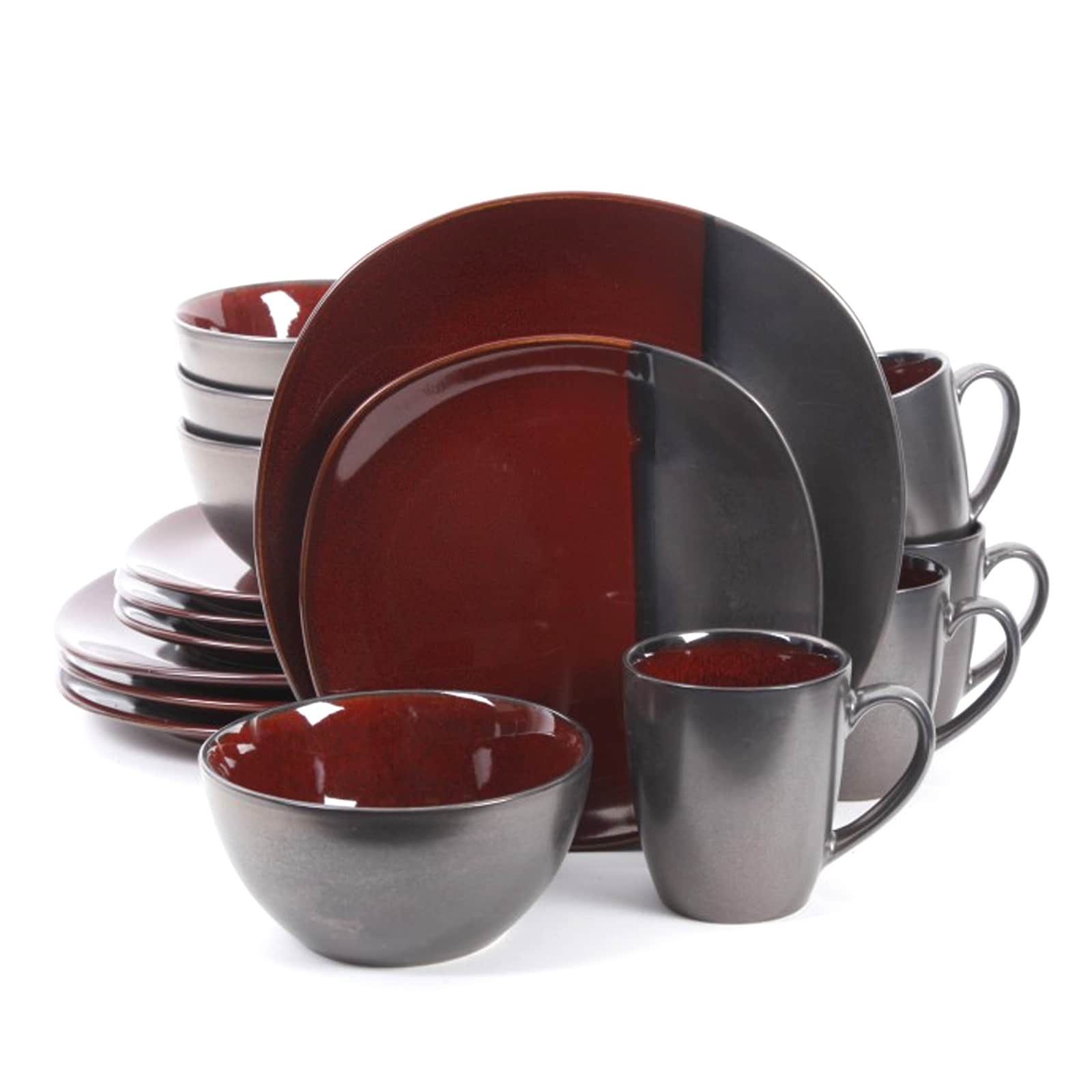 Gibson Volterra 16-piece Dinnerware Set (Service for 4) (...