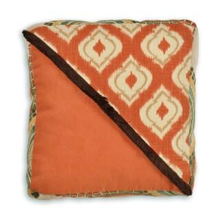 Macie Pumpkin and Tangerine 12-inch Throw Pillow