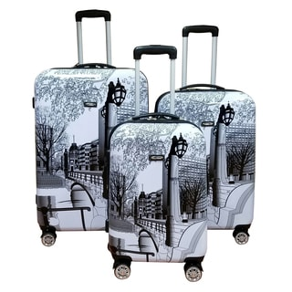 Kemyer World Series II Wide Body 3-Piece Central Park Hardside Spinner Luggage Set