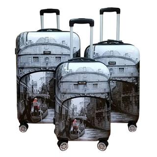 Kemyer World Series II Wide Body 3-piece 'Venice' Hardside Spinner Luggage Set