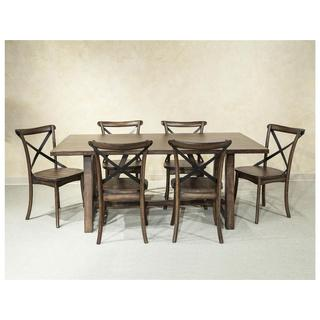 Intercon Lindsay Walnut 40x72 Trestle Dinette Table