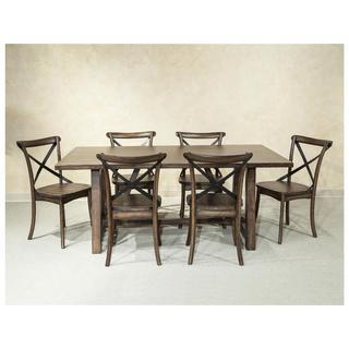 Lindsay Walnut 40x72 Trestle Dinette Table