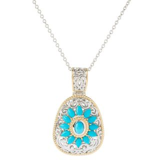 One-of-a-kind Michael Valitutti Multi-Shape Sleeping Beauty Turquoise Pendant