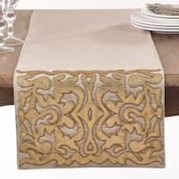 Gold Applique Cotton Table Runner