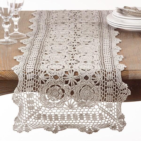 Crochet Design Cotton Table Runner