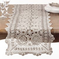 Crochet Design Cotton Table Runner