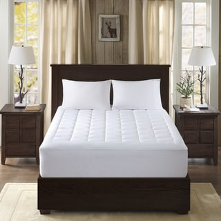 Woolrich Lexington White Cotton 300 Thread Count Sateen Mattress Pad