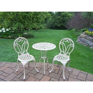 Elegance Beach Sand Cast Metal 3-piece Outdoor Bistro Dining Set