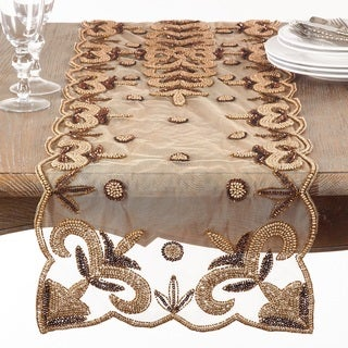 Hand-Beaded Table Runner